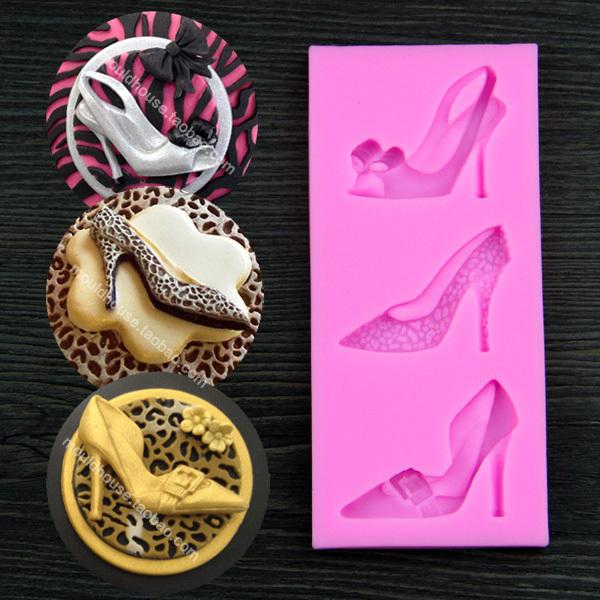 high heel shoes women sexy Fondant Cake Decorating Tool mold mould birthday DIY(China (Mainland))