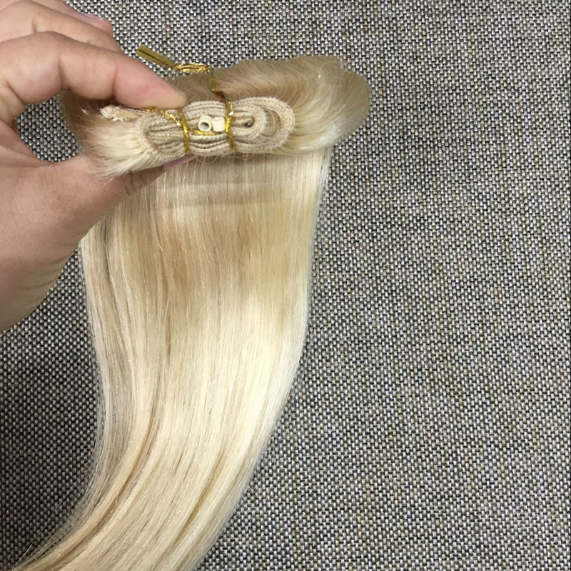 Full Shine Mirco Loop Hair Weft Brazilian Remy Human Hair High Quality Bead Extension Color 613 Blonde in Store Fast Delivery
