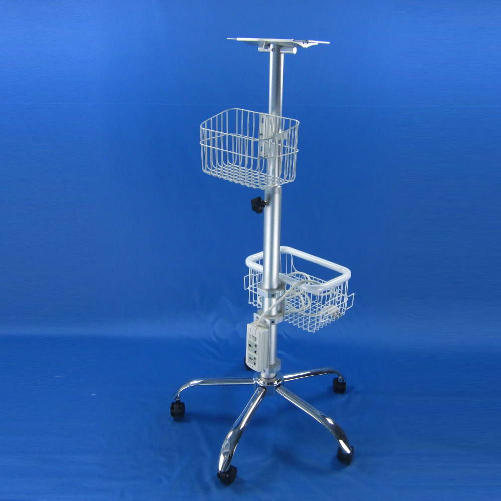 Medical trolley rollling stand manule lifter post with power outlet<br><br>Aliexpress