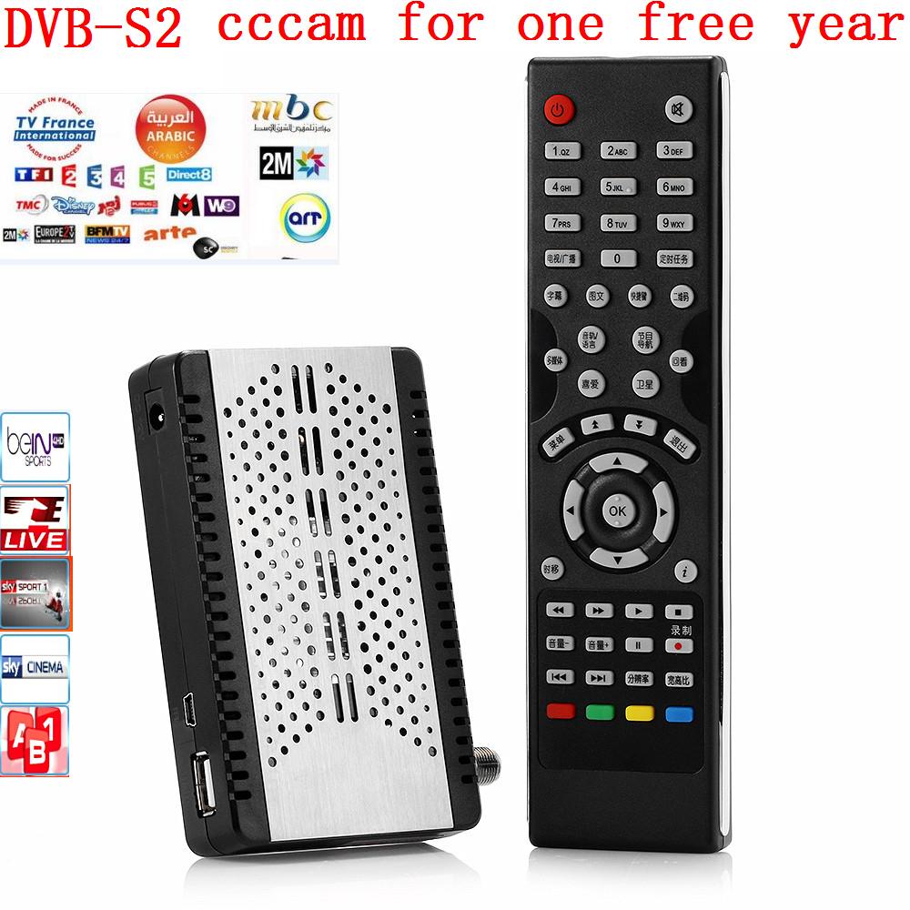 DVB-s2 tv box+ 1 year cccam 3 Cline DVB-S2 Europe cccam 3 Cline Server Satellite Decoder Spain UK Germany France(China (Mainland))