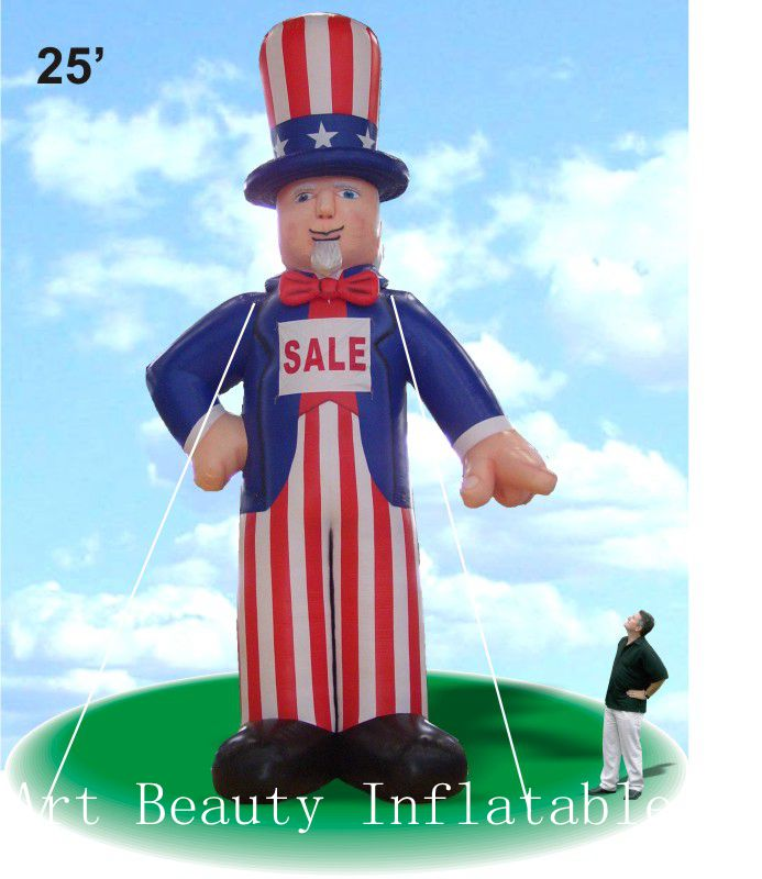 20ft christmas inflatable uncle sam for advertising sale(China (Mainland))