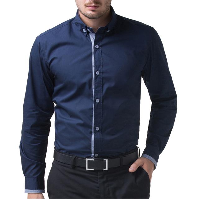 Известный бренд британский стиль slim-подходят стильные мужские рубашки Высокое качество ...