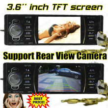 New  Car Radio MP5 Player 3.6 inch HD TFT screen car radio 12V mp5 car stereo W/remote control SD/USB/AUX IN Support rear camera(China (Mainland))
