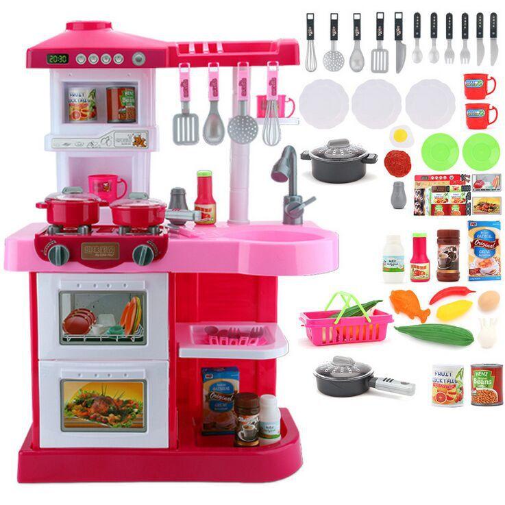 Giocattoli della cucina di simulazione ragazze gioco detskaya playset cucina per bambini set le ...