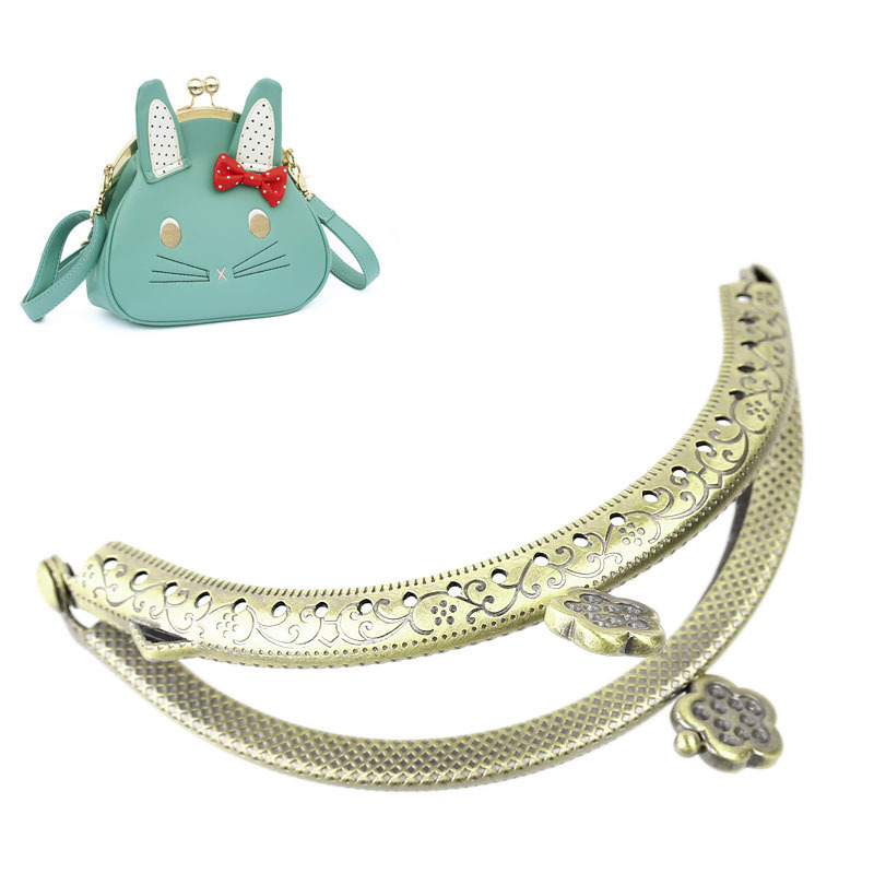 Latest Arrival 3PCs Metal Purse Bag Frame Kiss Clasp Lock Bronze Tone 9cm x6cm B31667(China (Mainland))