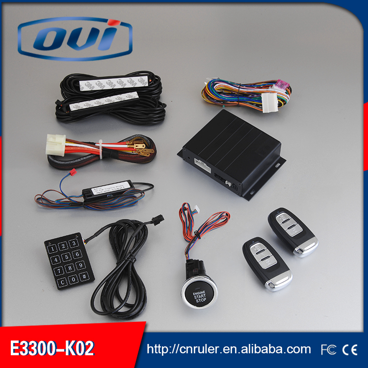 Car Keyless Entry and Start System,Push Button Start,Auto Start Car Alarm,Remote Start Car Alarm System(China (Mainland))