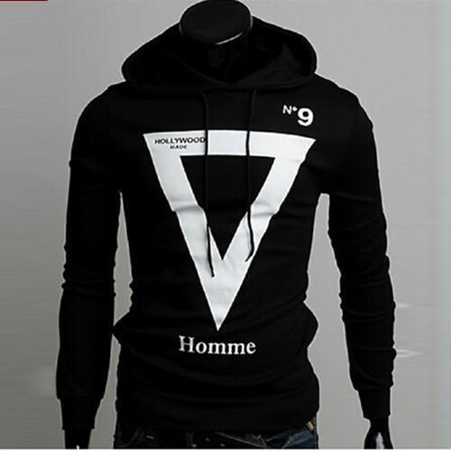 Осенние новые моды бренда Мужская случайный тонкий сплошной уникальные печати hooded.male флис замороженные hoodies.size м-2xl
