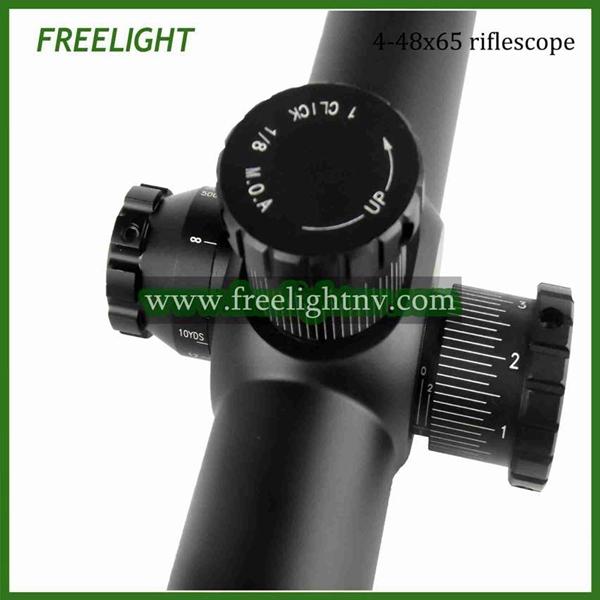 4 48x65 High variable power riflescope long range target shooting optical weapon scope Side focus riflescope