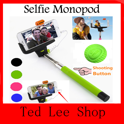 Z07-5 plus Audio Cable Wired Monopod Selfie Stick Extendable Palo Sefie Monopod for iPhone 6 plus 5 5s 4s IOS Samsung Android(China (Mainland))