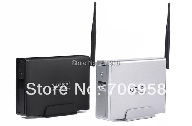 ORICO Wifi 3.5'' NAS hdd enclosure/Network Storage/wireless home cloud media center,support BT/PToffline download/FTP/iTunes
