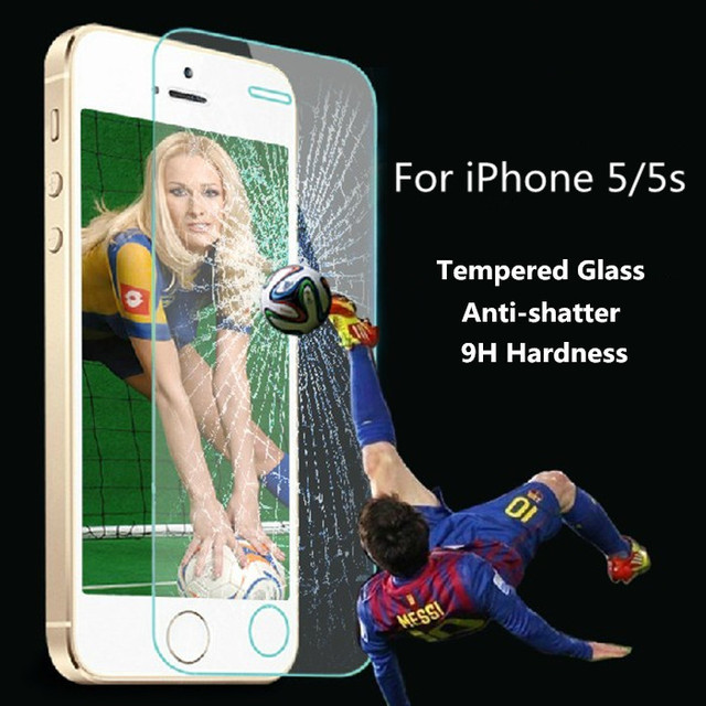 Premium Tempered Glass Screen Protector Protective Film For iPhone 5 5S 5C screen protector film With Retail Package