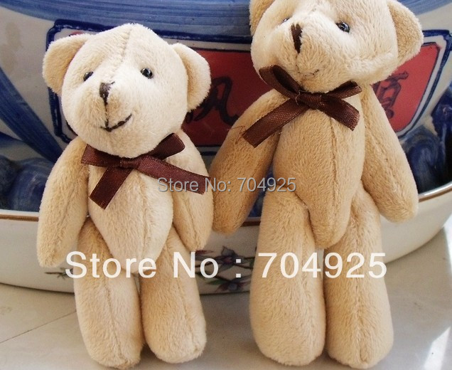10PCS Size BIG Super Kawaii 13CM Joint TED Teddy Bear Plush Stuffed TOY , BAG Charm Chain Pendant, Key Chain DOLL(China (Mainland))