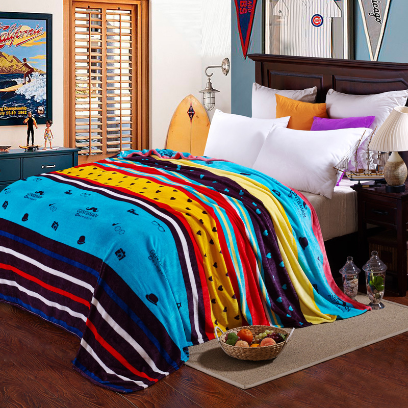 2015 news Pacific Textile blanket per square 200g coral fleece fabric fleece blanket(China (Mainland))