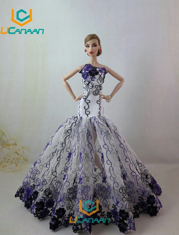 Not Comprise the Doll Ucanaan 1 PC Blue Fishtail Wedding ceremony Costume For Barbie Doll Restricted Assortment Elegant Handmade Costume Present