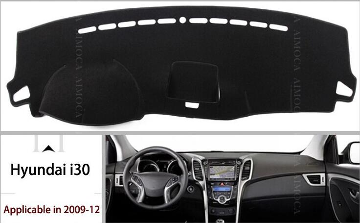 Dashboard car insulation pad, insulation, avoid reflective, black polyester Free shipping (used for Hyundai i30 ix25)(China (Mainland))