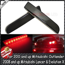 Buy Smoked Lens Red Rear Bumper Reflectors LED Tail/Brake Light 08+ Mitsubishi Lancer&Evolution X;11+ Mitsubishi Outlander for $23.99 in AliExpress store