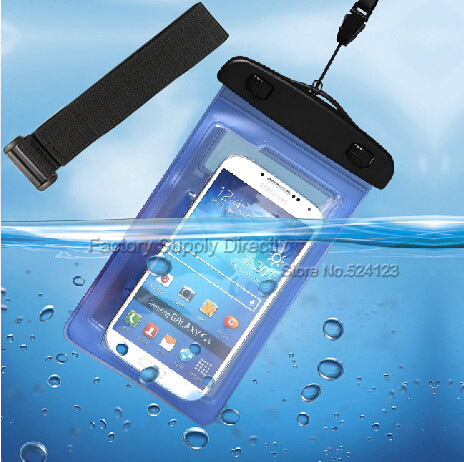 """PVC Waterproof Phone Underwater Case with band For 4.5""""-5.5"""" phone for iphone 6 plus for moto g 2,for oneplus one xiaomi mi4(China (Mainland))"""