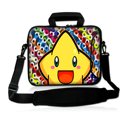 "Yellow Star 10""Laptop Carrying Bag Sleeve Case Cover w/Side Pocket +Shoulder Strap For 9.7"" -10.2"" Laptop Tablet PC(China (Mainland))"