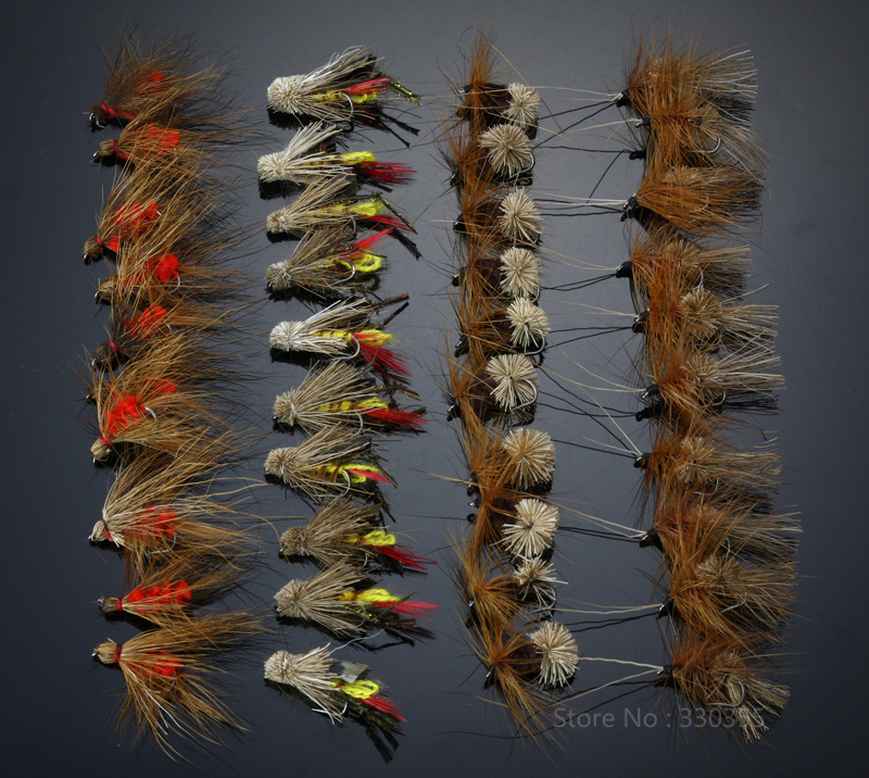 40Pcs Grasshopper Dry Flies Terrestrial fly Trout Fly Fishing Lures(China (Mainland))
