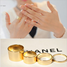2014 new 4pcs/set Hotsale and  Wholesale Fashion Alloy Punk Lord Nails Ring Combination Rings