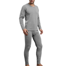 Buy Winter Warm Men Thermal Underwear Plus Velvet Long Johns Men Casual Home O Neck Long Sleeve Solid Thermal Tops Pants Sets F3 for $12.38 in AliExpress store