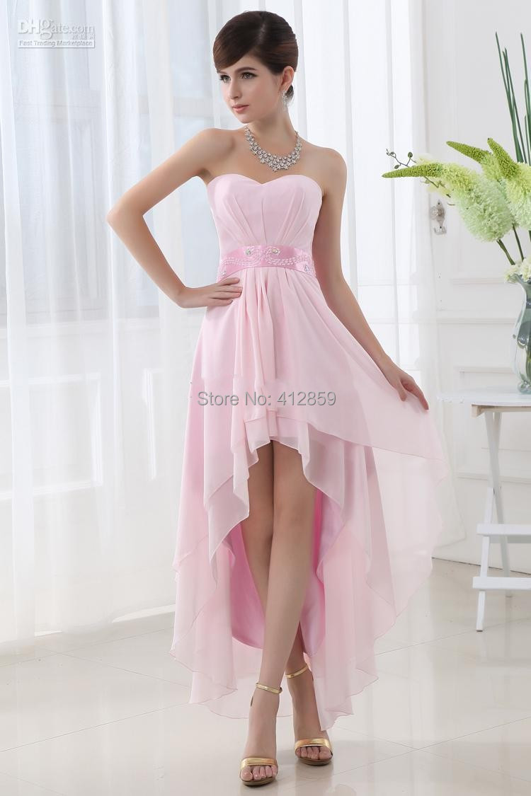 Hq 117 short bridesmaid dress girls pink bridesmaid dress for Misses dresses for wedding guests