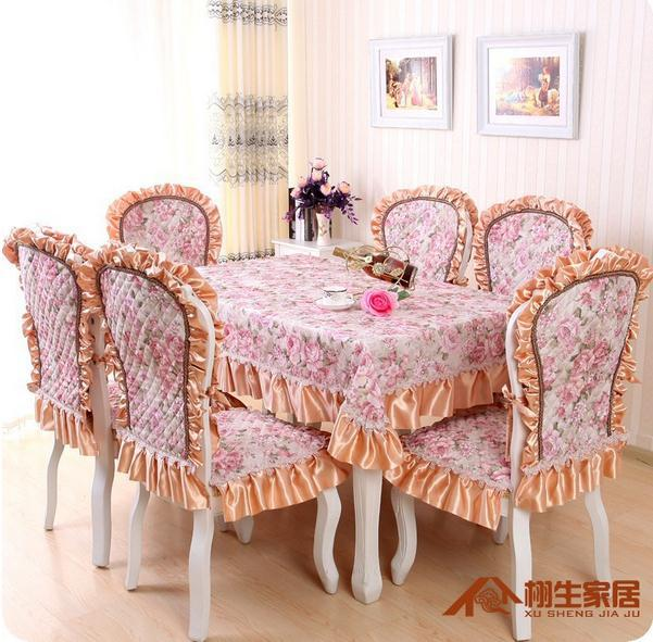 European classical luxury embroidery tablecloths, printing, plus cotton quilting chair cover, cushion, free shipping(China (Mainland))