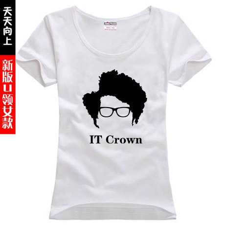 The IT Crowd Roy Maurice Moss Richard Ayoade sitcos couple clothes woman women female sports T-shirt(China (Mainland))