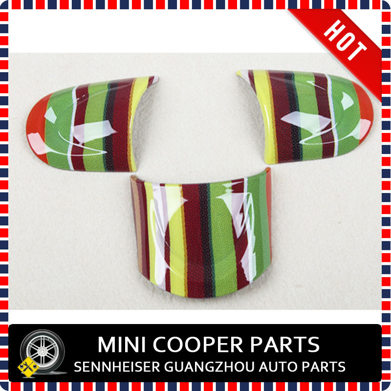 New ABS Material UV Protected Paul Smith Style No-Multifunctional Steering Wheel Cover For mini cooper R55-R61(3 Pcs/Set)(China (Mainland))