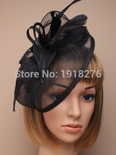 10pcs/lot, New Beautiful Feather Fascinator hat , red,black,beige/ivory,yellow,royal fascinator hatОдежда и ак�е��уары<br><br><br>Aliexpress