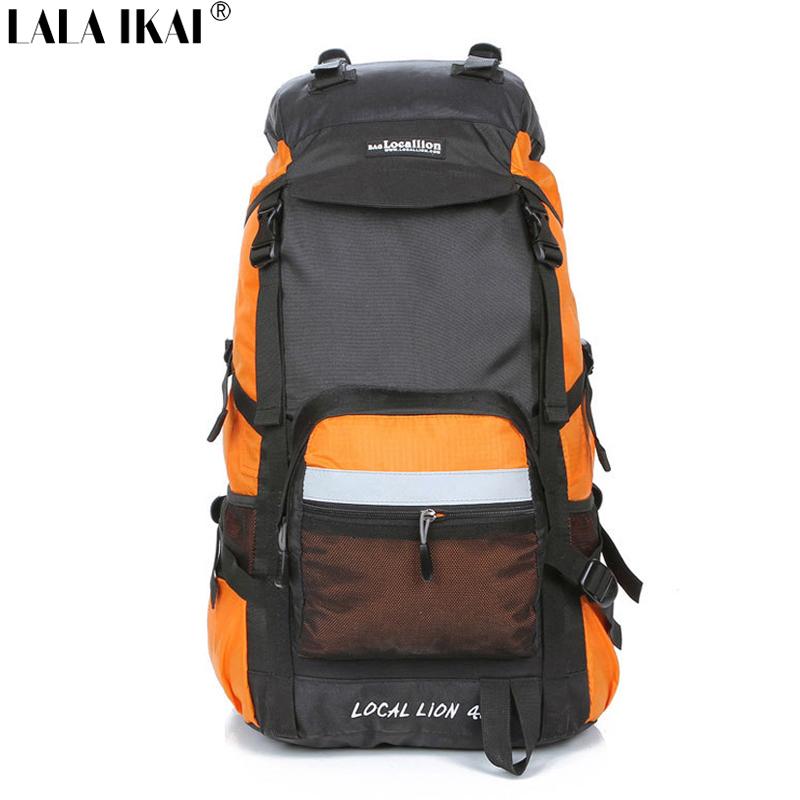 Hiking Backpack Outdoor Sport Mountain Climbing Backpack Nylon Waterproof Big 45L Mochila Women'S Camping Backpack YIN0132-2