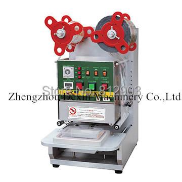 Free Shipping K320 Large Size Automatic Cup Sealing Machine, Cup Sealer Packing Machin Pneumatically,CE(China (Mainland))