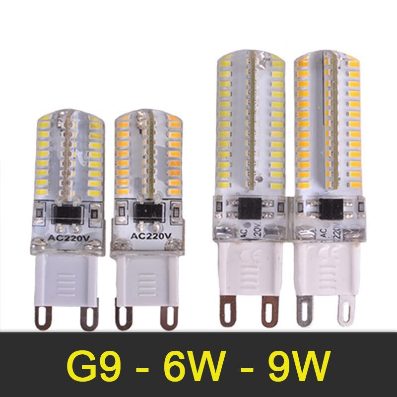Mini G9 LED Bulb 220V 6W 9W LED Lamp Corn Light SMD3014 LED Spotlight G9 Lamp Silicone body Warm White/White Energy Saving<br><br>Aliexpress