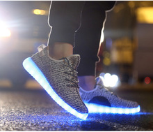 WEISE 7 Colors luminous shoes unisex led glow shoe men&women fashion USB rechargeable light led shoes for adults led shoes 35046(China (Mainland))