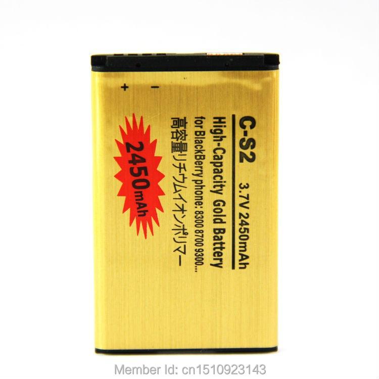High Capacity 2430mah C-S2 C S2 CS2 Gold Golden Li-ion Battery For Blackberry Curve 8300 8310 8320 8520 8530 9300 8700 7100(China (Mainland))