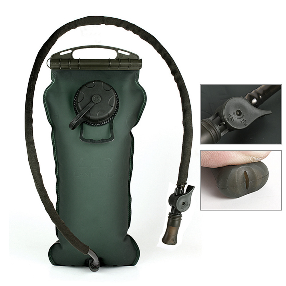 3L Hydration System Reservoir Antimicrobial Leakproof ON/OFF Button Bite Valve Water Bladder Bag(China (Mainland))