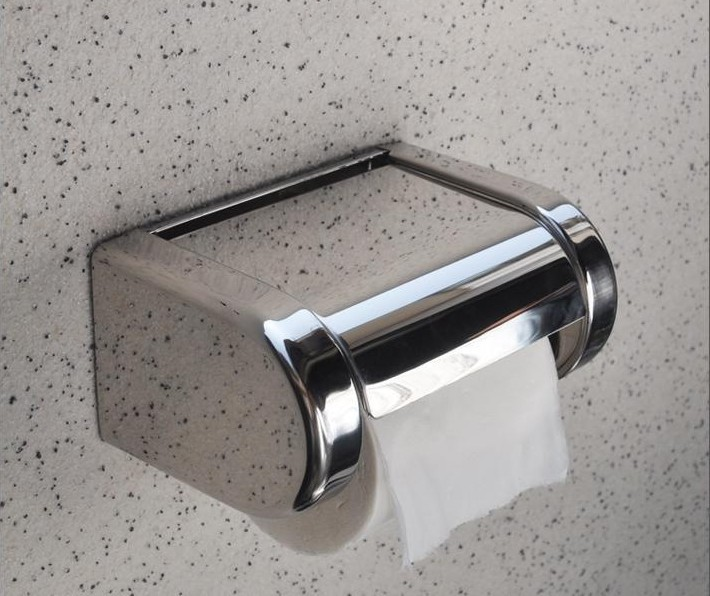 Stainless Steel Toliet Paper Holder Roll Tissue Holder Box(China (Mainland))