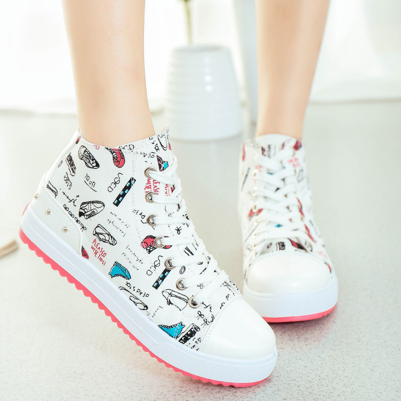 new fashion sports sneakers women sport shoes high top