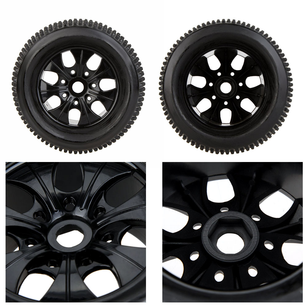 2Pcs 100% New 1/8 RC Truck Car Wheel Rim and Tire 810011 for Traxxas HSP Tamiya HPI Kyosho RC Car Part(China (Mainland))