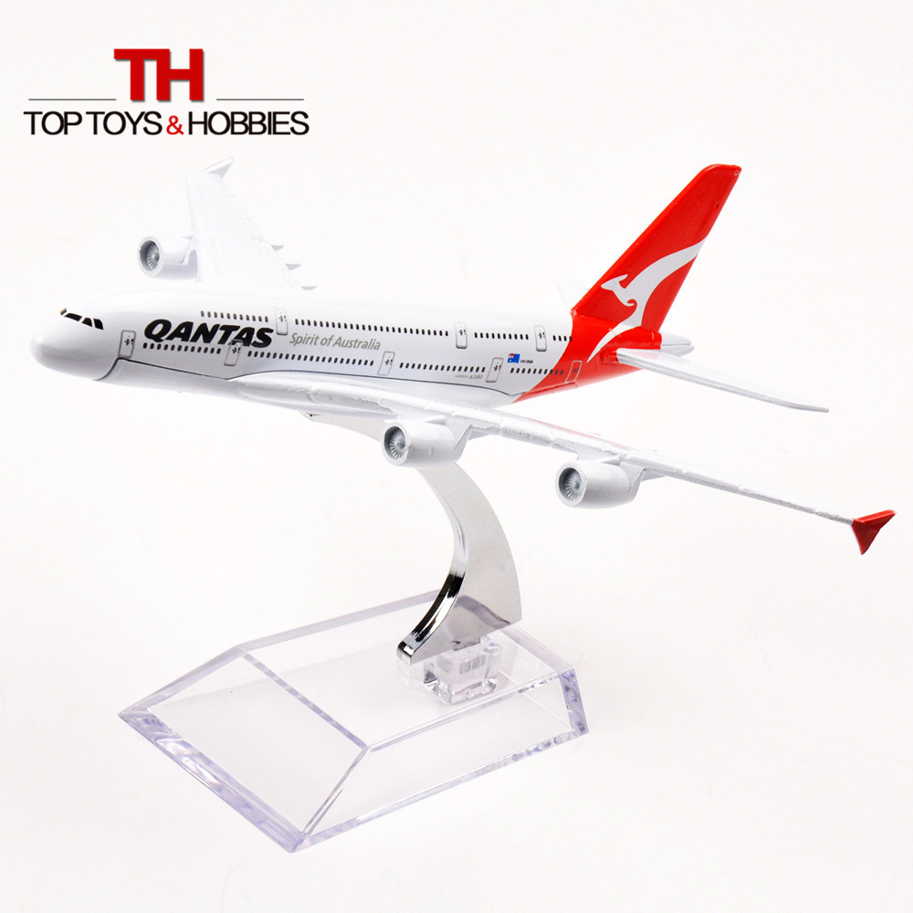 Passenger Plane Model Airbus A380 Qantas spirit of Australia Metal Airplane Model Alloy Air Plane w Stand Collections Gifts(China (Mainland))