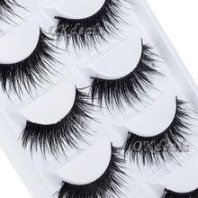 5 Pairs Lot Black Natural Thick False Eyelash Soft Long Handmade Makeup Fake Eye Lashes Extension(China (Mainland))