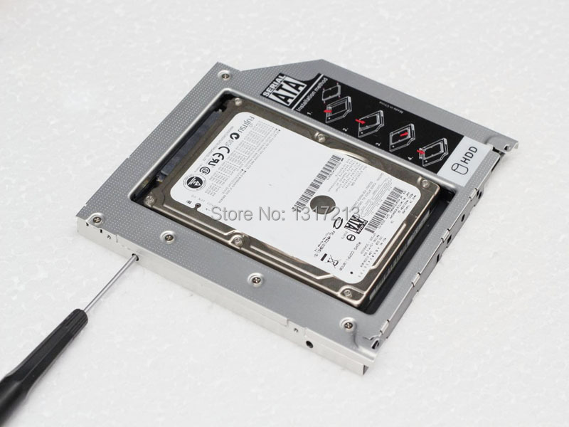 2nd 9.5mm Hard Drive HDD Caddy Adapter For HP EliteBook 2530P 2540p 2560p 2740p(China (Mainland))