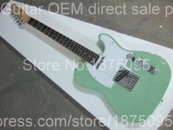 Free shipping ! tl solid body Guitars tlcaster Sky Blue color OEM Retro style Electric Guitar in stock(China (Mainland))