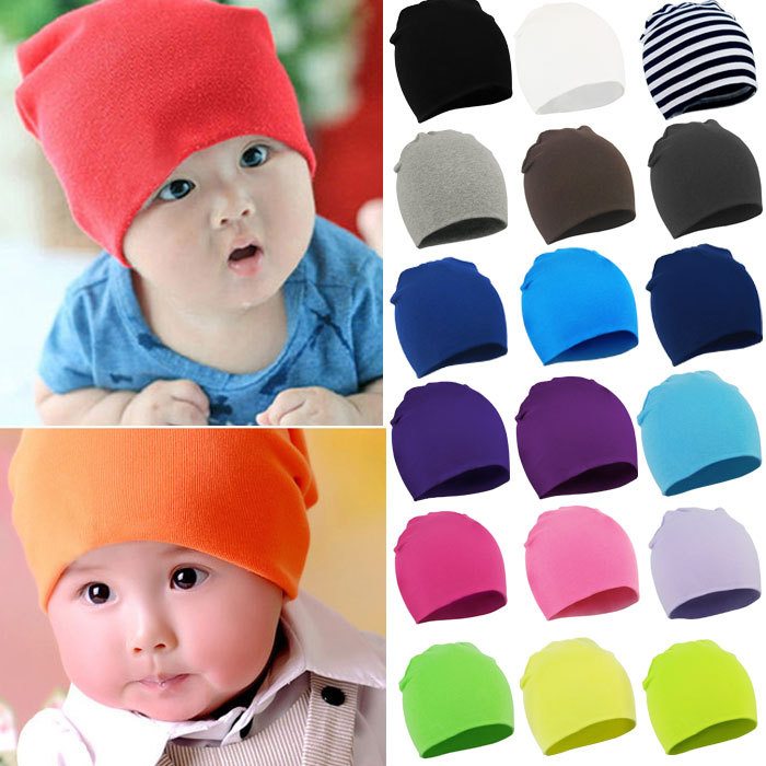 Newborn 2016 Winter New Unisex Baby Boy Girl Kids Toddler Infant colorful Cotton Soft Cute Hats Cap Beanie Free shipping(China (Mainland))