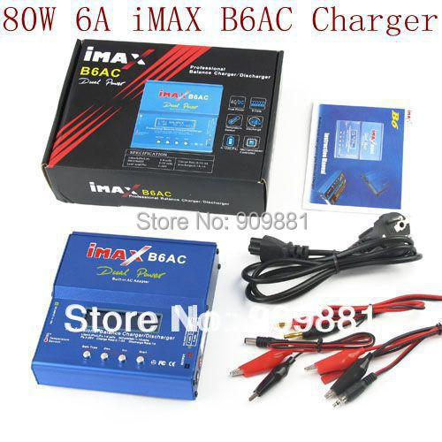 Big Discount !!! Brand New Powerful 80W 6A iMAX B6-AC B6AC Lipo NiMH 3S RC Battery Balance Charger with color package box(China (Mainland))