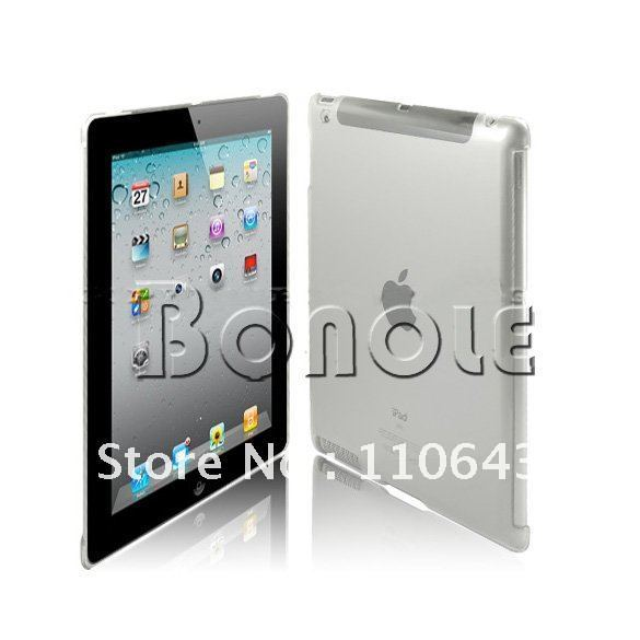 Clear Crystal Hard Back Case Work With Smart Cover Mate For iPad 3 3RD