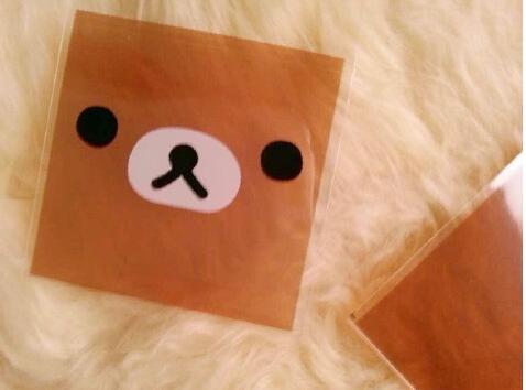 100pcs 10x13cm 10x10+3cm Cute Brown Bear Food Cookie Bag Self Adhesive Seal Bag Plastic OPP Bag Jewelry Soap Gift Poly Bag(China (Mainland))