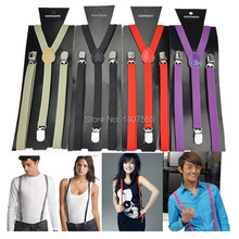 1pcs Elastic Brace Suspenders  for women 1.5cm Y  Clip-on Belt for Overall Adult(China (Mainland))