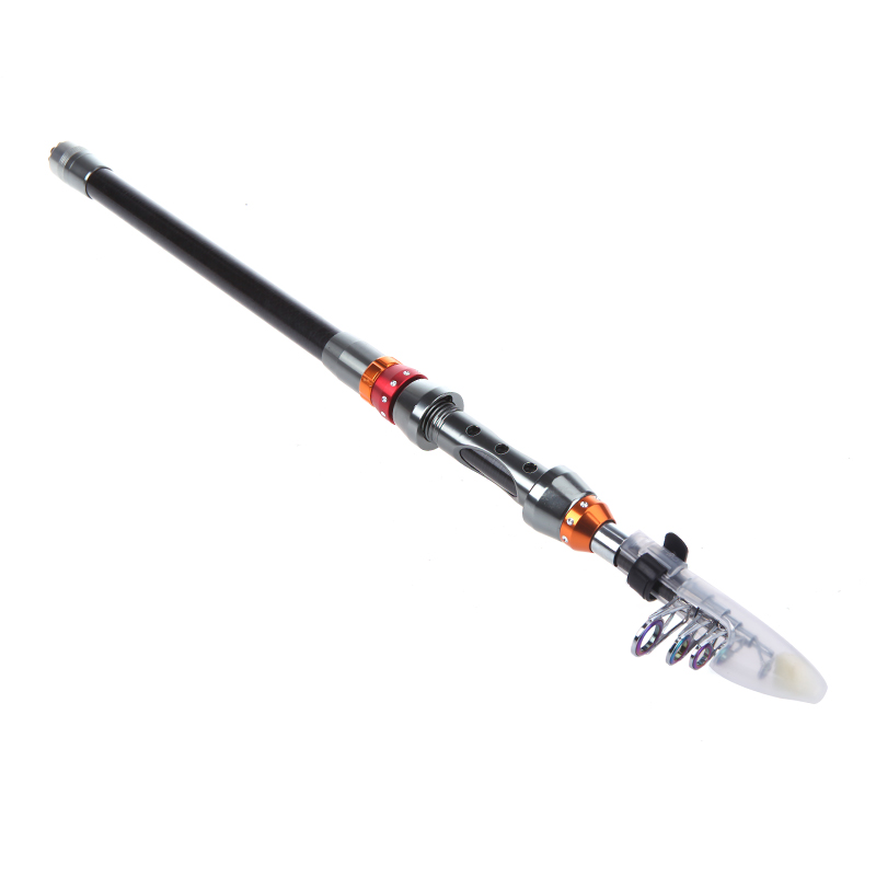 Brand carbon 2 1m portable telescopic fishing rod spinning for Best fishing pole brands