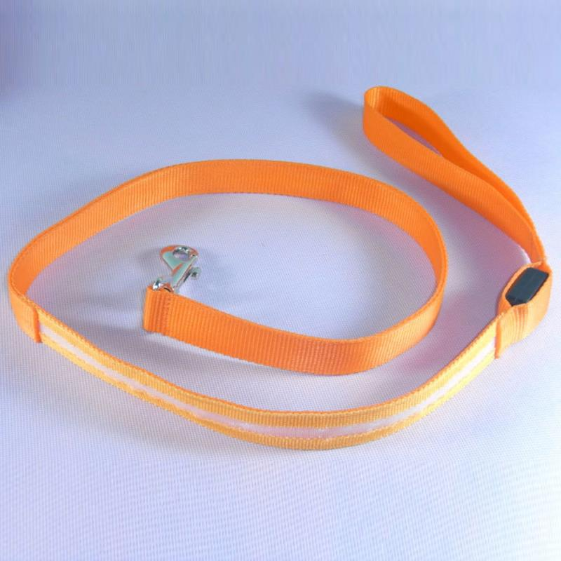 LED Lighted Dog Leash Night Safety Training Pet Lead Leashes